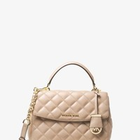 Ava Small Quilted-Leather Satchel | Michael Kors