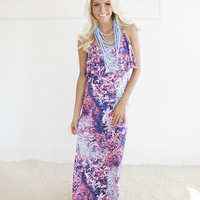 Multi Colored Printed Maxi Dress CLEARANCE