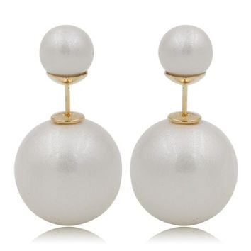 Gum Tee Mise en Style Tribal Earrings - Venetian Matte White
