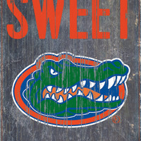 "Florida Gators Wood Sign - Home Sweet Home 6""x12"""