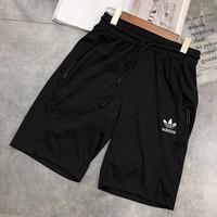 Adidas men's black baggy five-minute pants Korean version of sports fashion trend casual shorts