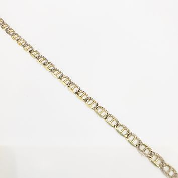 """Sparkle 14K Gold Italian Flat Mariner 56cm /22.04"""" Necklace Chain