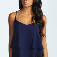 Lola String Back Double Layered Cami