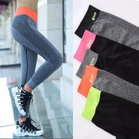 Elastic Work Out Knitted Leggings