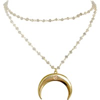 Jezebel Large Crescent Necklace