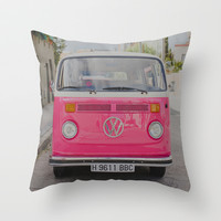 Hot Pink Lady Throw Pillow by Hello Twiggs | Society6