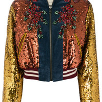 Gucci GG Web Sequinned Bomber Jacket - Farfetch