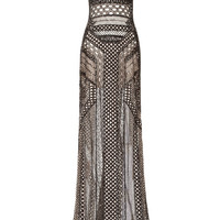 Graphic Lace Fully Embroidered Gown by J. Mendel for Preorder on Moda Operandi