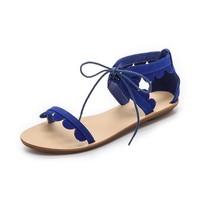 Marmy Scalloped Sandals