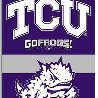 Texas Christian Horned Frogs TCU 2-sided 28x40 Banner Outdoor Flag University