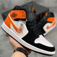 Trendsetter Nike Air Jordan 1 Mid Women Men Fashion Casual Sneakers Sport Shoes