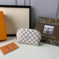LV Louis Vuitton DAMIER CANVAS COSMETICS HOLDER BAG