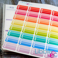 Ombre Pattern Half Box Life Planner Die-Cut Stickers! Set of 32 Perfect for the Erin Condren Planner!