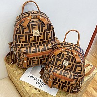 Fendi New fashion double F print casual backpack mini backpack for ladies
