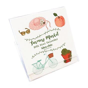 2021 Idea Chíc Farmers Market Mini 12-Month Desk Calendar