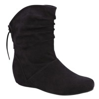 Women's Toby Short Scrunch Boot - Black- Route 66-Shoes-Womens-Boots