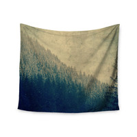 "Robin Dickinson ""Any Road Will Do"" Mountain Tree Wall Tapestry"