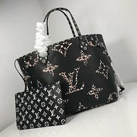 lv louis vuitton women leather shoulder bags satchel tote bag handbag shopping leather tote crossbody 77