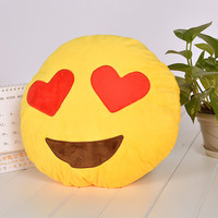 Hearts emoji pillows