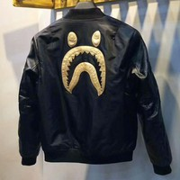 BAPE SHARK Fashion Women Men Tide Brand Ape Man Shark head Couple Windbreaker Zipper Coat High quality I-MG-FSSH