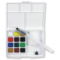 Sakura KOI WATERCOLORS SKETCH BOX 12 Colors with Waterbrush 38382