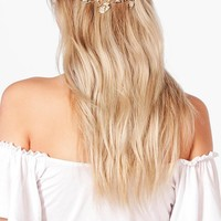 Neve Boutique Leaf Head Crown | Boohoo