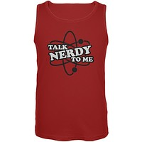 Talk Nerdy To Me Red Adult Tank Top