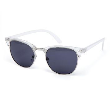 ASOS Clubmaster Sunglasses with Clear Finish