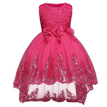 Luxury Baby Girl Lace Christening Gown Dress Formal Teenage Girl Party Dresses For Girl Children Kids Evening Prom Designs 12 Yrs