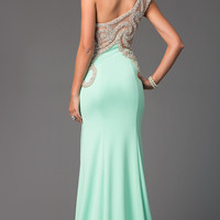 Long One Shoulder Sweetheart Gown by Terani