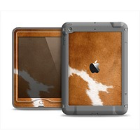 The Real Brown Cow Coat Texture Apple iPad Mini LifeProof Nuud Case Skin Set