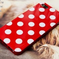wave point round dot soft Silicon case for apple iphone4/4s/5 from Fancy Mall