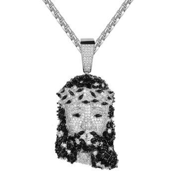 Holy Jesus Marquise Cut Micro Pave Religious God Charm