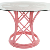 Ficks Reed Pink Flamingo Dining Table