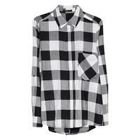 Buy Mango Check Cotton Shirt, Natural White | John Lewis