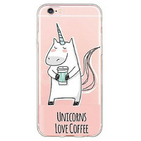 Unicorns Love Coffee Case for iPhone Whimsy