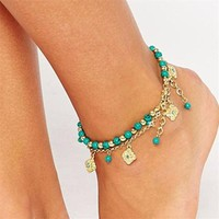 Lovely Vintage Anklet with Flowers