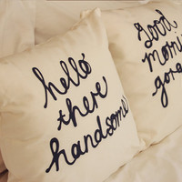 His and Hers Cushion Covers 18 x 18 inch