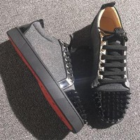Christian Louboutin CL Low Style #2059 Sneakers Fashion Shoes Online