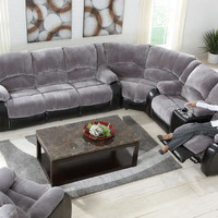 Devon Gray 3 Pc. Sectional - Sectionals - Living Room - mobile