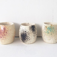 Ceramic Planter / Splatter Paint / Ceramic Pottery for Succulents, Cacti or Air Plants / The Lee Planter / MADE TO ORDER
