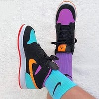"Air Jordan 1 Mid ""Milan"" Classic Hot Sale High Top Men's and Women's Sneakers Shoes"