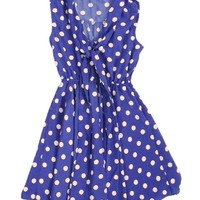 Blue Sugar Spot Skater Sun Dress | $16.50 | Cheap Casual Dresses Fashion | MODdeals.com