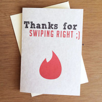 Funny Tinder Valentine - Thanks for swiping right PDF