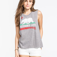 Billabong Bears Republic Womens Muscle Tank Heather  In Sizes