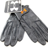 Under Armour Leather Men's Black/Red Velcro Gym/Training Winter Gloves