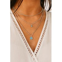 Just Ask Layered Necklace (Silver)