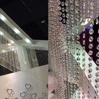 New 10M Garland Diamond Strand Acrylic Crystal Bead Curtains Wedding Decor (Color: White) [7981616583]