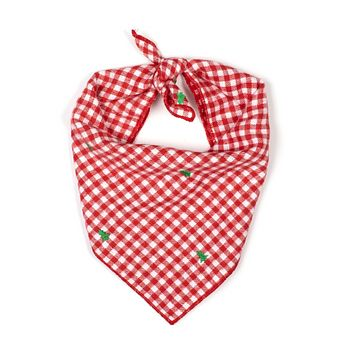 Red Gingham Holiday Bandana