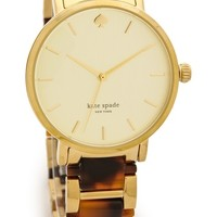 Kate Spade New York Two Tone Tortoise Gramercy Bracelet Watch